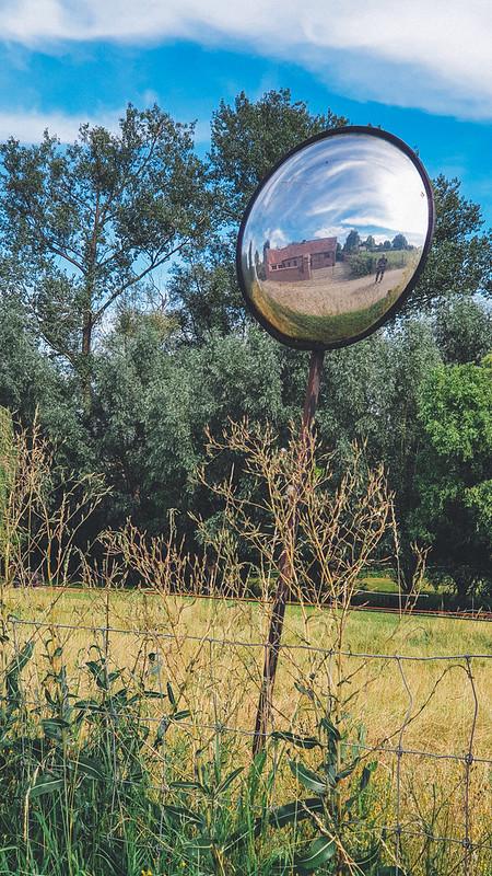 zelfportret in bolle spiegel