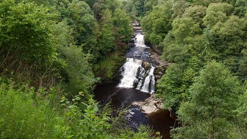 scotland cora linn waterfall water scenic landscape
