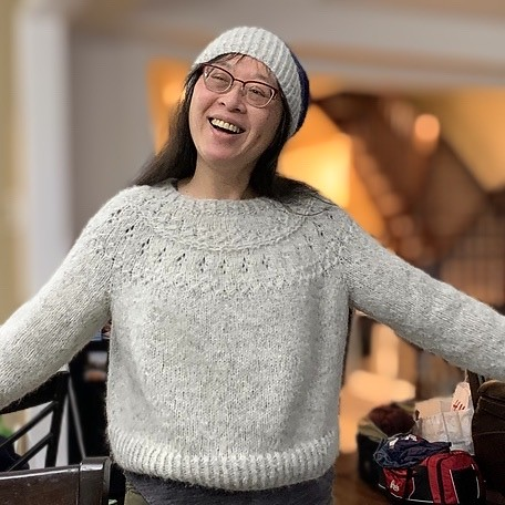 My sister Mary knit gets using Garnstudio Drops Air!