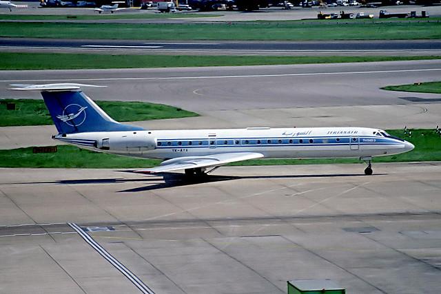 YK-AYA   Tupolev Tu-134B-3 [63992] (Syrianair) Heathrow~G 28/09/1997
