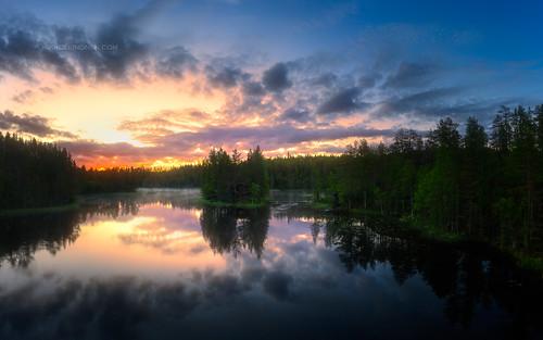 Lake Jyrävänjärvi sunrise