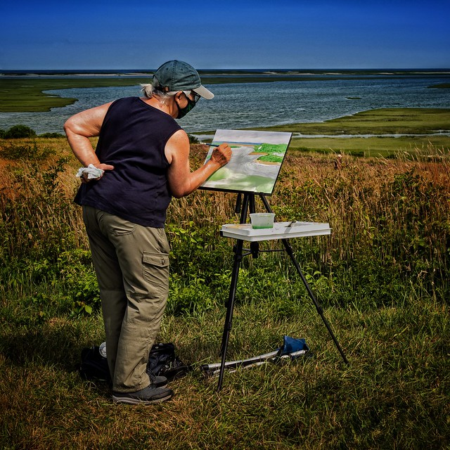 An Artist at Fort Hill, Eastham, MA