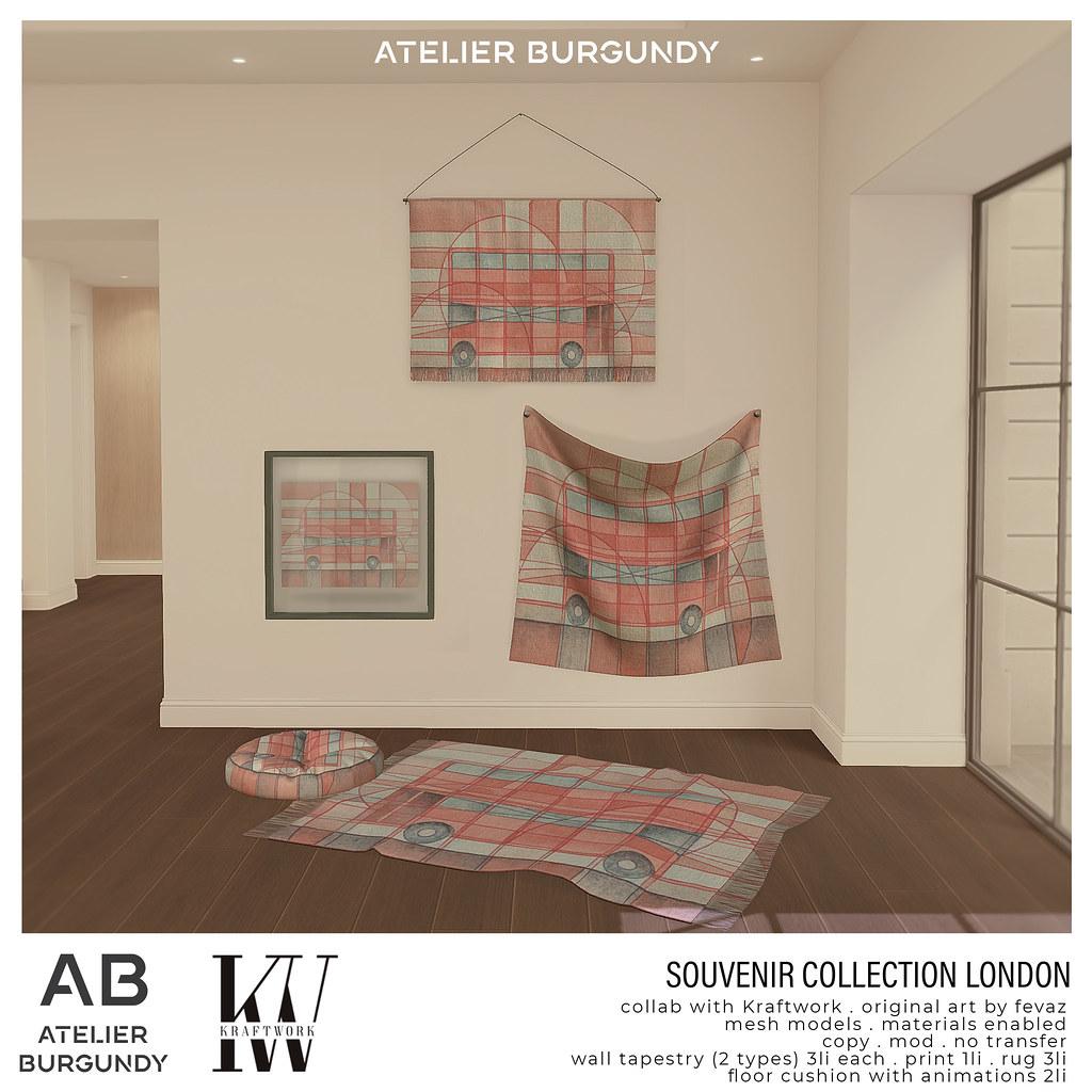 Atelier Burgundy + Kraftwork . London