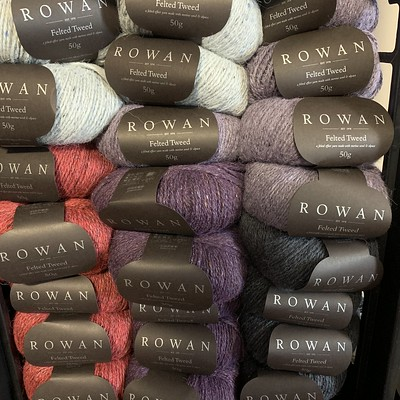 ...A little of the Rowan Felted Tweed DK that has been restocked!