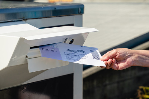 Everett, WA - USA / 07/30/2020:  Dropping Mail in Ballot into mail box | by ShebleyCL
