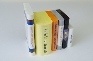 2020 - lego sliding bookshelf - books from my bookend mocs