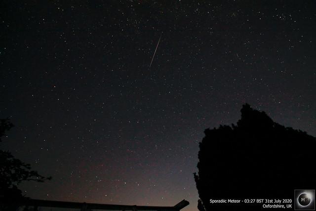 Sporadic Meteor - 03:27 BST 31/07/20
