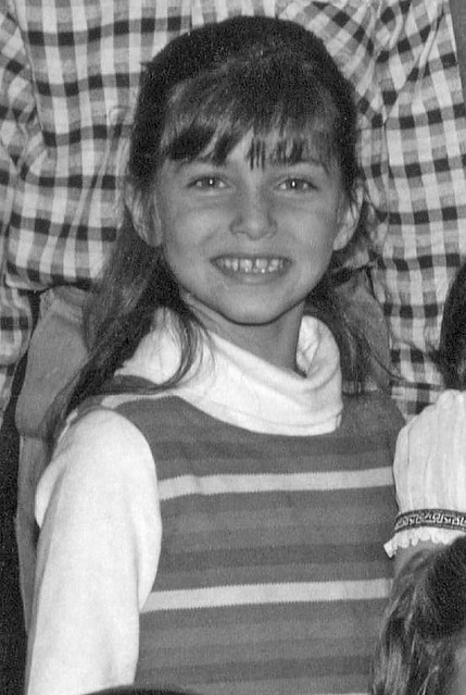 Back in 3rd grade in 1966, I had an enormous crush on this girl. Those bangs, those sparking eyes, that smile! True puppy love.  We were both 8 years old. I only wish wish that I could remember her name. Milford, Connecticut. November 1966