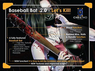Baseball Bat v2.0 - [Chris Two Designs] - Let's kill some zombies! | by [ Chris Two Designs ]