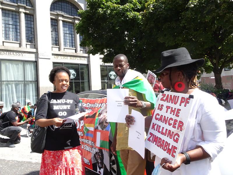 Zanu MUst Go Demo 31 July 2020 Zim Embassy LO