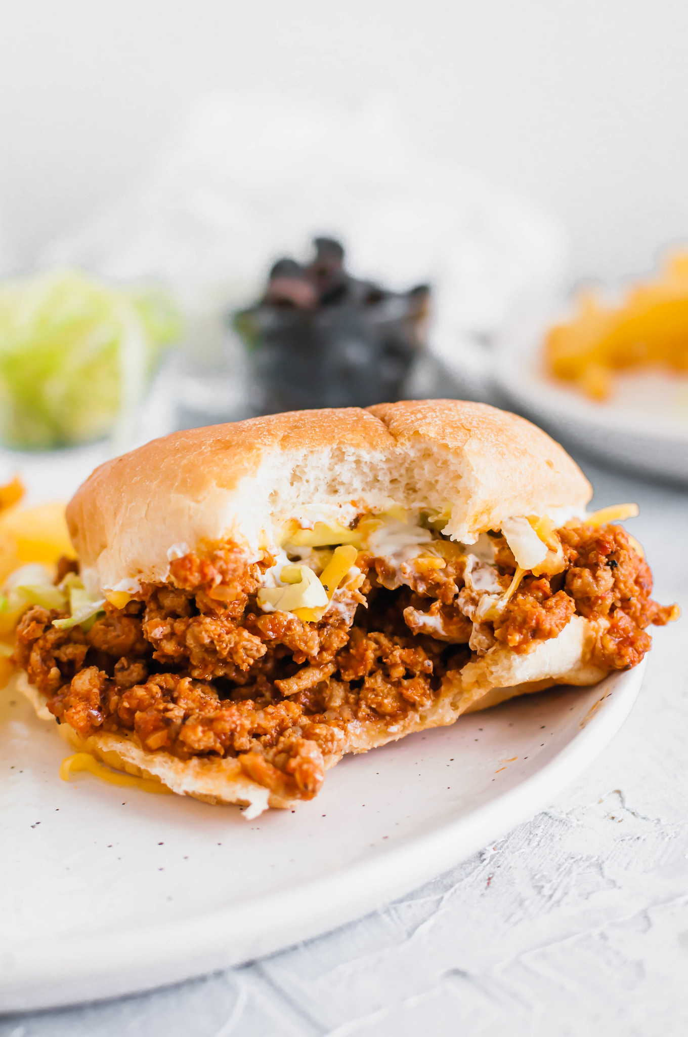 Get ready for back to school with these Taco Turkey Sloppy Joes. They are quick (less than 30 minutes), easy and a big family pleaser. Top with all your favorite taco toppings.