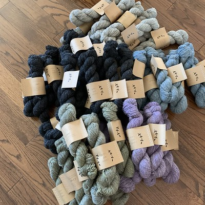 Another lovely squishy shipment of all Canadian @lichenandlace arrived!! Rustic Heather Sport, 80/20 Sock and Marsh Mohair! More colours available!