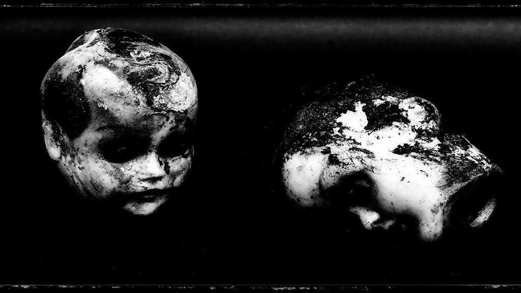 Macro doll heads
