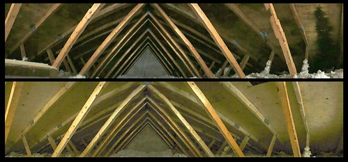 Attic Mould Treatment, Before and After