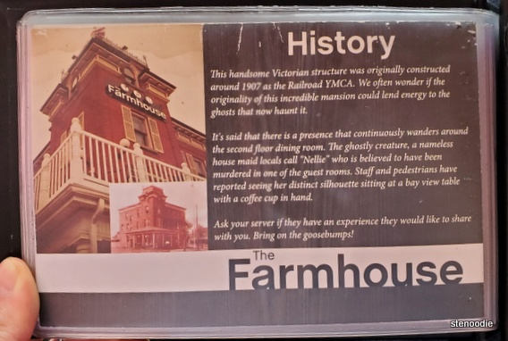 History of The Farmhouse Restaurant