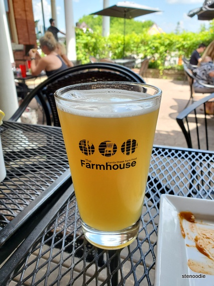 The Farmhouse Restaurant patio with beer