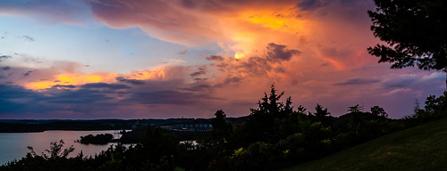sunset storm clouds sky color branson missouri outdoors outside panorama landscape pentax pentaxk100