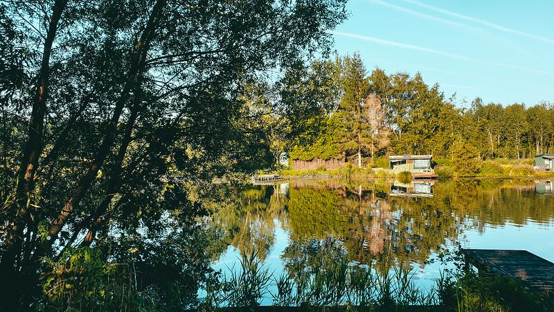 plassen in natuurreservaat Briel