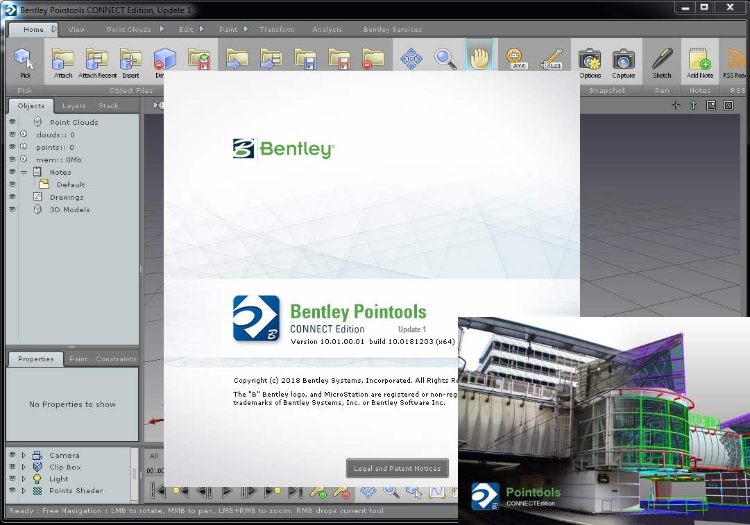 Working with Bentley Pointools Connect Edition 10.01.00.01 full license