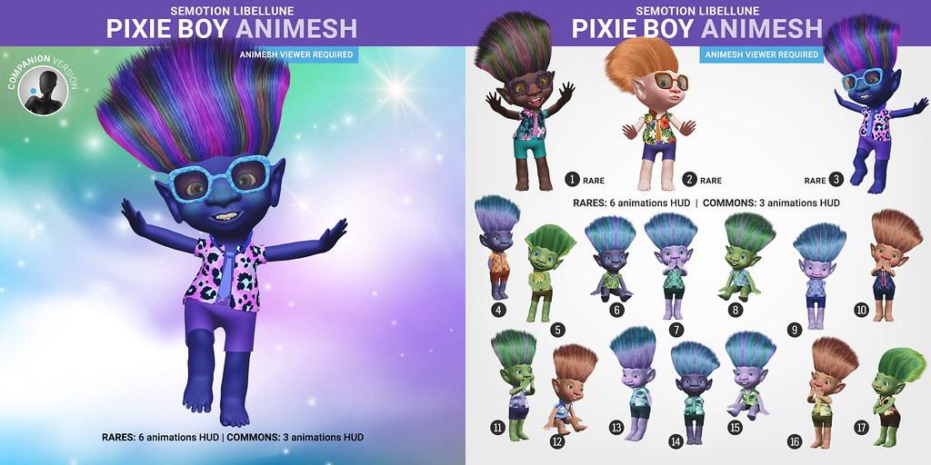 SEmotion Libellune Pixie Boy Animesh