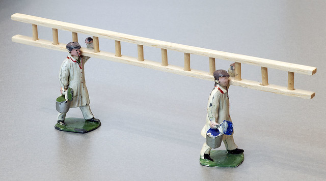 Dinky Toys No. 13 Painters with a Ladder, Pre-war Models