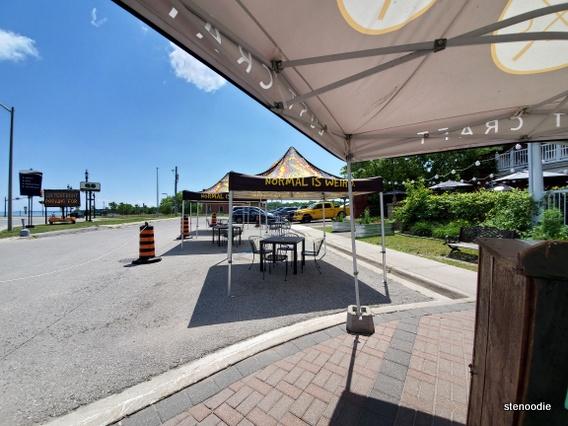 The Farmhouse Restaurant patio seating