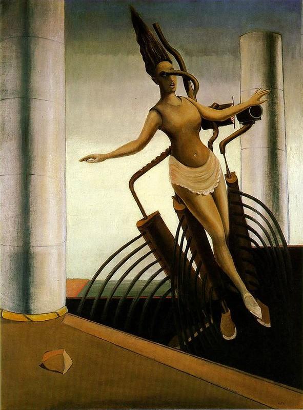 Макс Эрнст, Колеблющаяся женщина, 1923