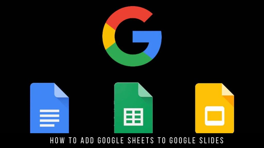 How to Add Google Sheets to Google Slides
