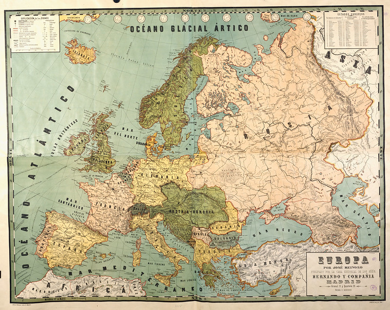 Map of European Great Powers