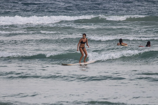 french girl surfing