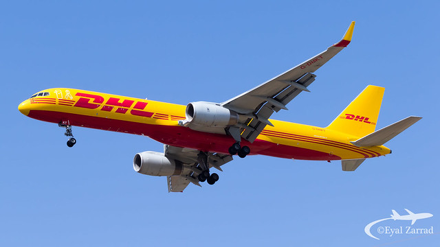 TLV - DHL Boeing 757-200 Freighter G-DHKT