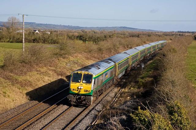 IE 219 + IC trein Dublin Heuston - Cork - Limerick Junction