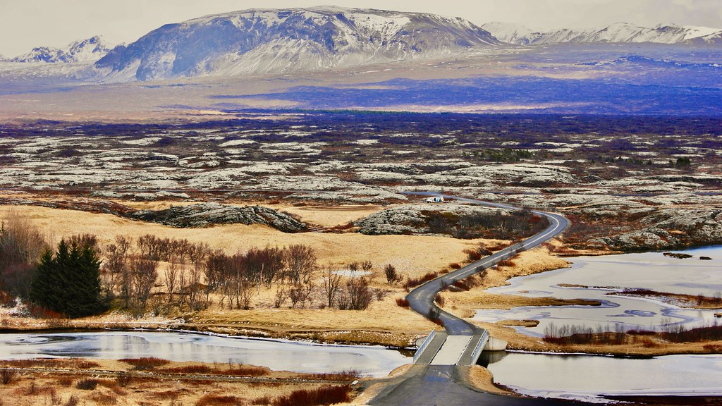 Amazing Iceland - the place where American and Eurasian tectonic plates meet