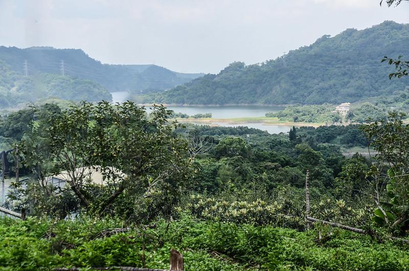 校粟東山(校栗林山)山頂西南俯瞰鯉魚潭水庫