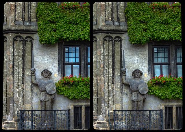 Roland of Quedlinburg 3-D / CrossView / Stereoscopy