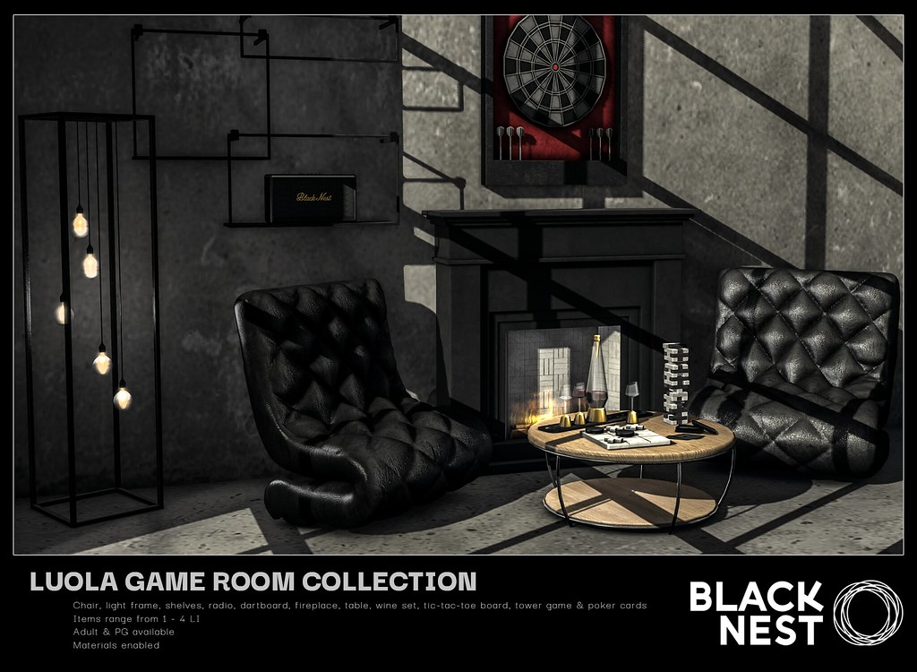 BLACK NEST / Luola Game Room Collection / FaMESHed