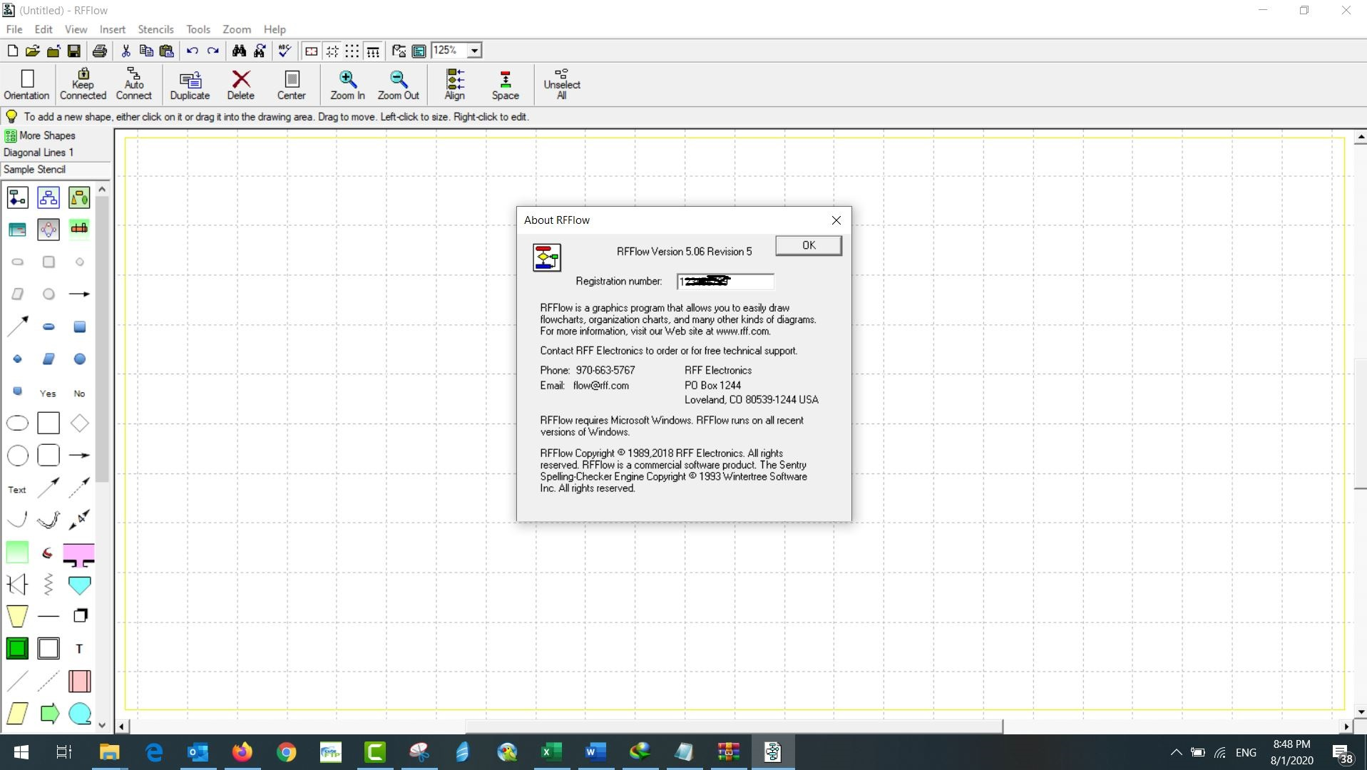 Working with RFFlow 5.06 Revision 5 full license