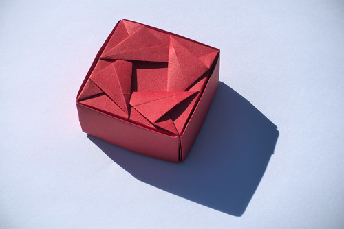 Box with Woven Triangles I