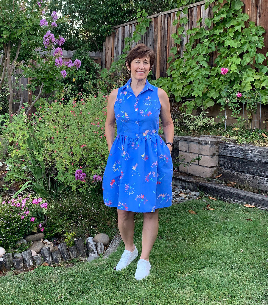 Patrones blue dress 1