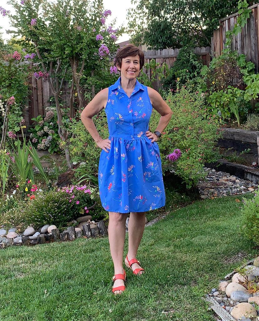 Patrones blue dress 4