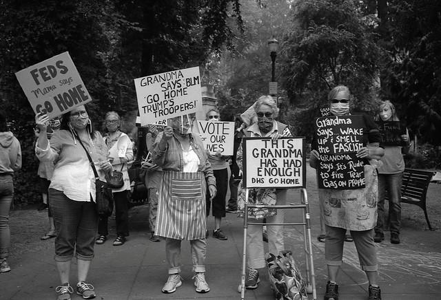Protesters, Portland