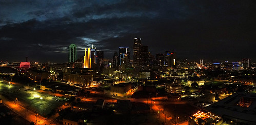 Wide night shot, Dallas. | by JDLinDallas
