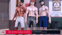 HEVO - Hem Ripped Cargos