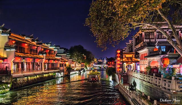 Qinhuai River, Nanjing at night
