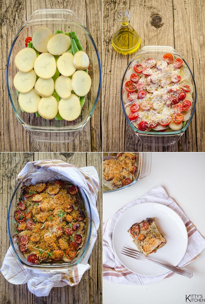 sformato di taccole e patate