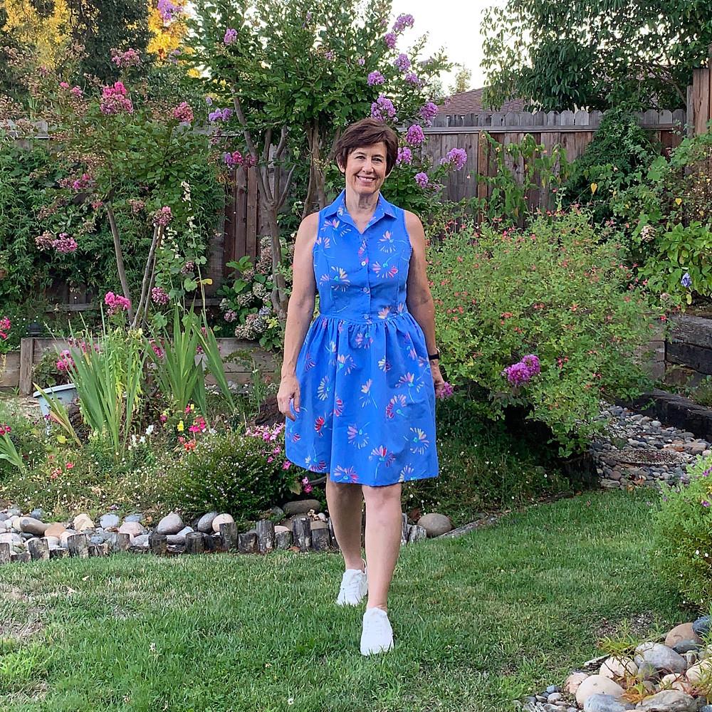Patrones blue dress 3
