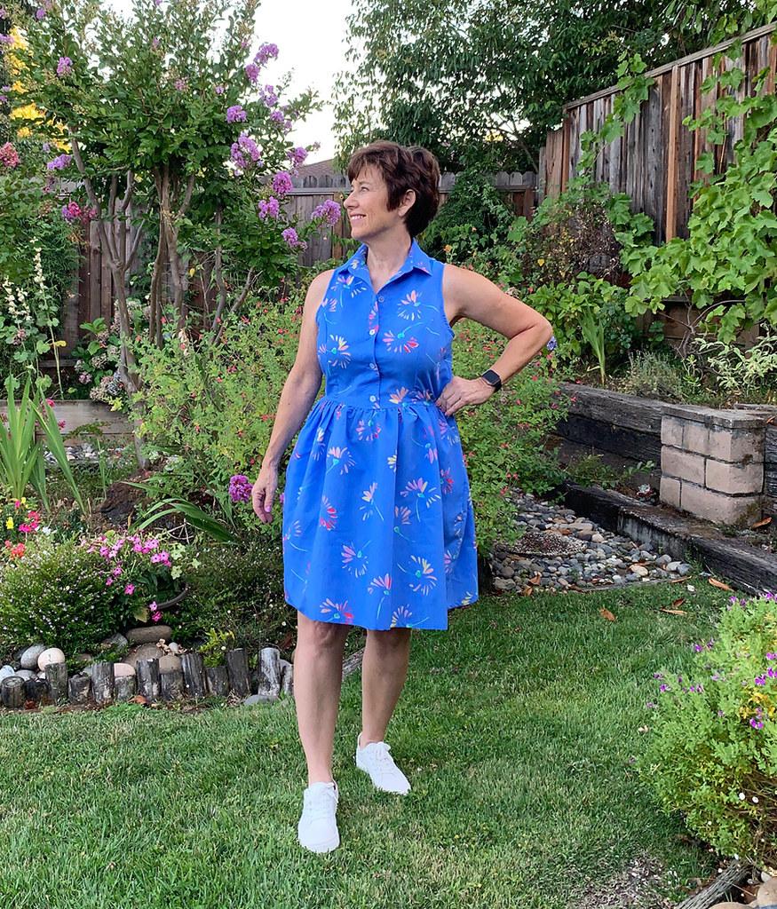 Patrones blue dress waist fit