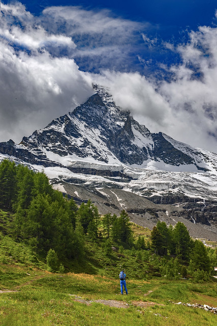 Happy Birthday Switzerland. The Matterhorn in the Beginning of the summer. Zermatt, Canton Valais, Switzerland. No. 916.