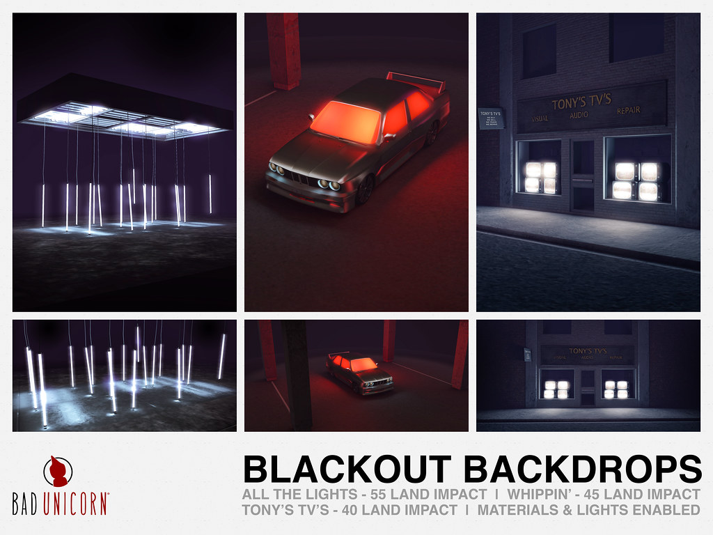 NEW! Blackout Backdrops @ LEVEL