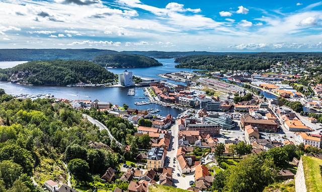 Halden - seen from the Fredriksten Fortress
